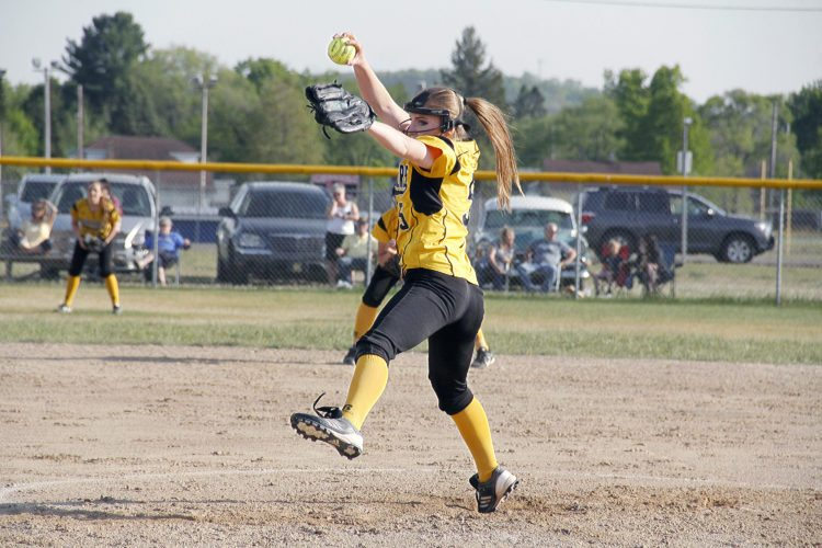 Iron Mountain pitcher Lara Hakamaki throws against Kingsford on May 23, 2016 in Kingsford, Mich. Hakamaki will pitch this season at Albion College. (Adam Niemi/Iron Mountain Daily News, File)