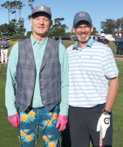 Iron Mountain High School graduate Todd Penegor, right, poses for a photo with actor-comedian Bill Murray at the AT&T Pebble Beach Pro-Am.