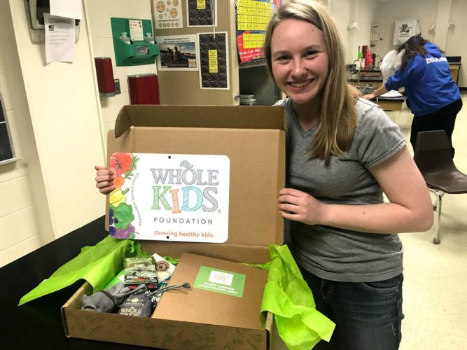 Richelle Jochem photo Sophia Wysocki, a 10th-grade student at Goodman-Armstrong Creek Schools, received a $2,000 grant and goodie box from the Whole Kids Foundation, a Whole Foods Market affiliate based in Austin, Texas. She is ordering a greenhouse and organizing a garden club at the school.
