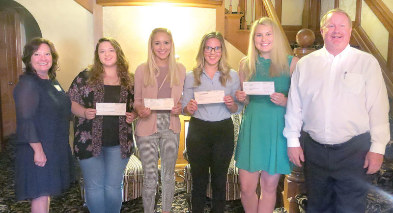 The Iron Mountain-Kingsford Rotary Club has awarded $6,000 in scholarships to graduating seniors from Iron Mountain and Kingsford high schools. To date, the Rotary Club has awarded more than $100,000 to local students pursuing higher education. From left are Tamara Juul, Rotary Club president and director of the Dickinson Area Community Foundation, who manages the endowed scholarship fund; Arika Wickman, KHS, $2,000 scholarship; Hailey Bubloni, KHS, $1,000; Mary Hanson, IMHS, $2,000; Claire Czernek, IMHS, $1,000; and David McCash, Rotary Scholarship committee chairman.