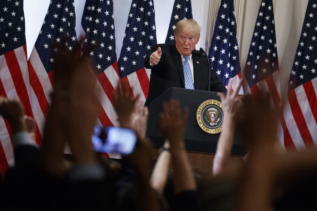 Trump defends Kavanaugh at press conference, says 'there was nothing to investigate'