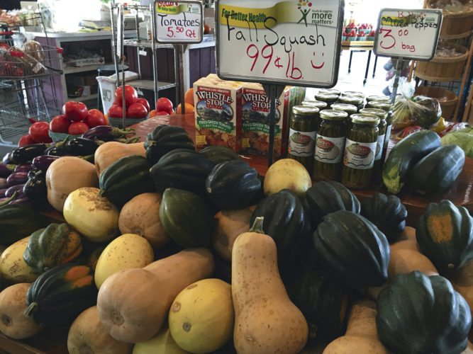 Journal photos by Katiann Marshall Fall squash is shown on display at Butler's Farm Market in Martinsburg.