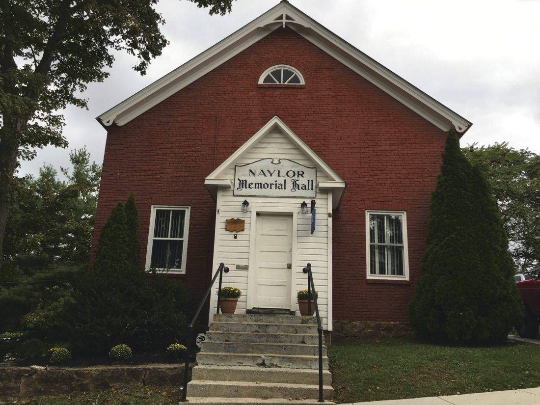 Journal photo by Katiann Marshall The Naylor Memorial Hall building located in downtown Hedgesville.