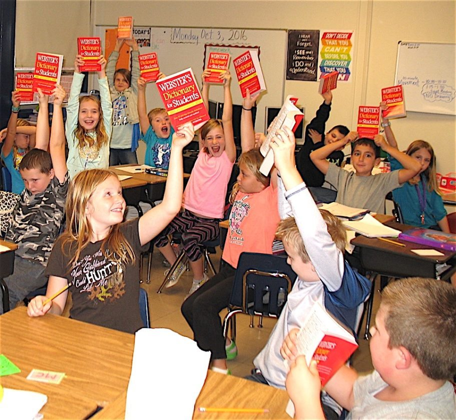 Submitted photo The accompanying photo was taken at the North Jefferson Elementary School on Oct. 3. It shows students in Ms. Griffith's third grade classroom holding dictionaries they had just received from members of the Shepherdstown Club.