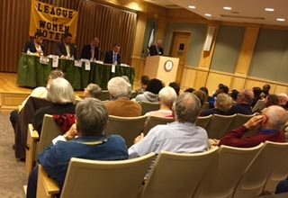 (Submitted photo) The third and final League of Women Voters Candidate Forum was held Oct. 25 at the Byrd Center at Shepherd University.