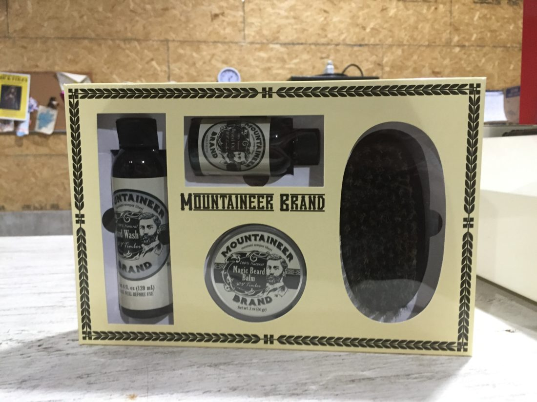 A beard care gift set from Mountaineer Brand is shown.