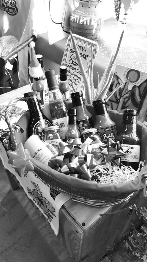 Photo by Jennifer R. Young One of the holiday gift baskets available at Rivas Gourmet Market in Charles Town is shown above.