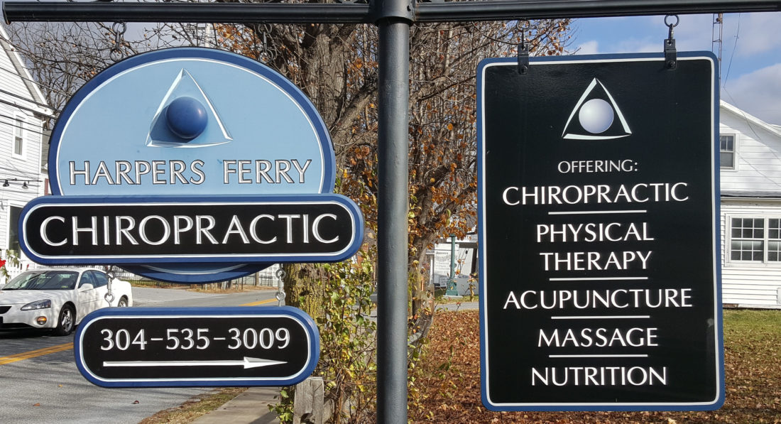 (Submitted photo) The sign at the new Harpers Ferry Chiropractic facility is shown.