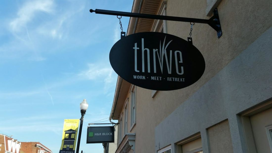 (Journal photo by Jennifer Young) The Thrive store front facing Washington Street in Charles Town.