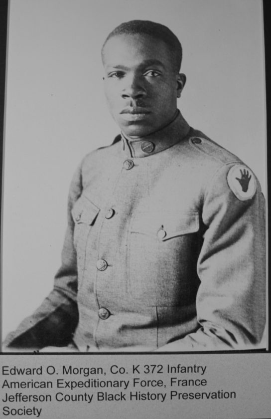 (Submitted photo) Pictured is Edward O. Morgan, Co. K 372nd Infanty, American Expeditionary Force.