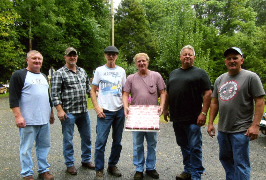 """Left to right, """"Tracy"""" Leonard, Jimmy Butler, Glen Leonard, Butch Leonard, Danny Leonard and Richie Leonard."""