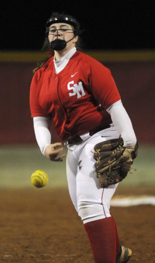 Journal photo by Ron Agnir Spring Mills pitcher Taylor Grimes hurls the ball against Hampshire Friday night in Martinsburg.