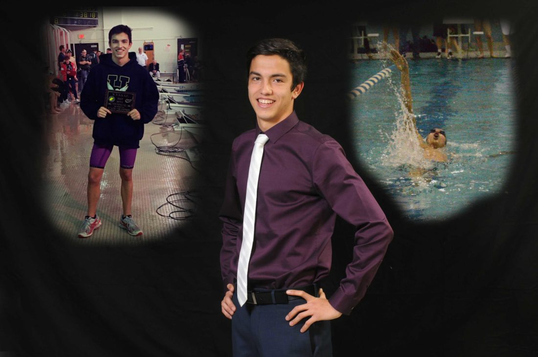 Hedgesville senior Ricard Marsal-Castan, who finished first in the state in the 500-yard freestyle and fourth in the 100 backstroke, has been named as The Journal's Male Swimmer of the Year. (Journal photo illustration by Ron Agnir)