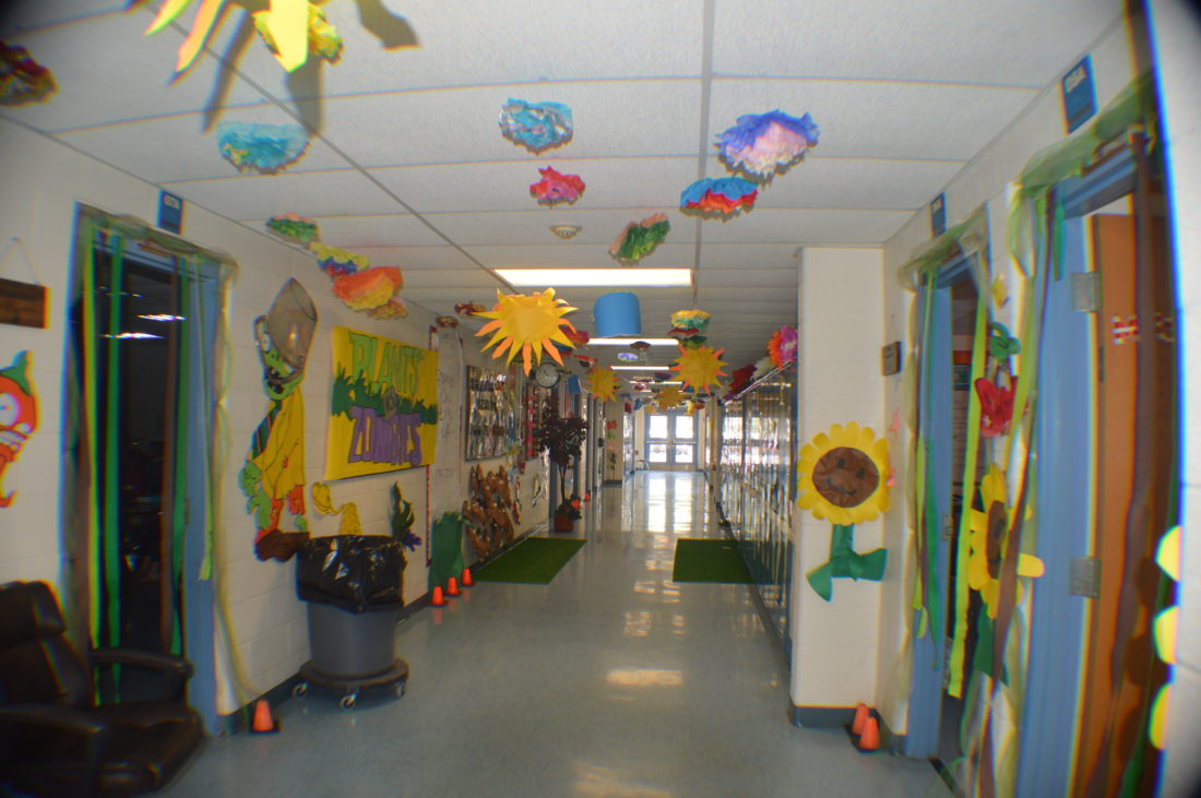 Hedgesville school hallways were decorated with different themes. (Journal photos by Adranisha Stephens)