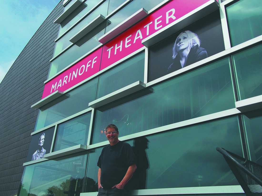 (Journal photo by Tim Cook) Ed Herendeen, the Contemporary American Theater Festival's founder and producing director, is shown in front of the Marinoff Theater on the campus of Shepherd University.
