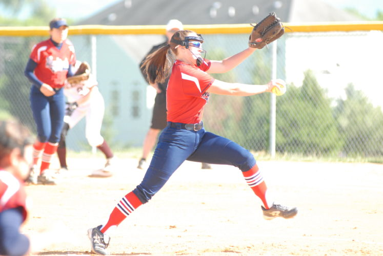 Washington pitcher Taylor Cenate winds up to throw during Wednesday's Class AAA, Region II, Section 2 game against Jefferson in Charles Town. Cenate gave up just three hits and struck out five. (Journal photo by Rick Kozlowski)