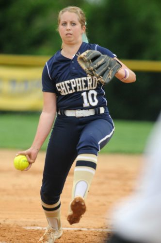 Tara Hanson of Shepherd had a 4-1 record last week, including two shutouts. (Journal photo by Ron Agnir)
