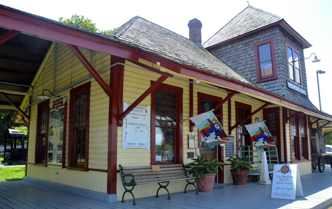 All that remains of the Chesapeake Bay Railway is the more than 100-year-old original train station.  (Photo by Jeanne Mozier)