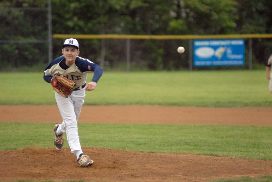 Hedgesville's Chase Delauter delivers a pitch during Friday's Class AAA, Region II, Section 1 championship game in Hedgesville. (Journal photo by Eric Jones)