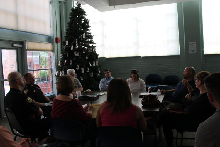 Community leaders and members of the Berkeley County Criminal Justice Board met Wednesday to discuss the Berkeley County Day Report Center.