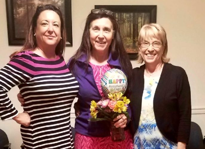Shown, in center, is Mary Smith, Manpower's Administrative Professional of the Year. (Submitted photo)