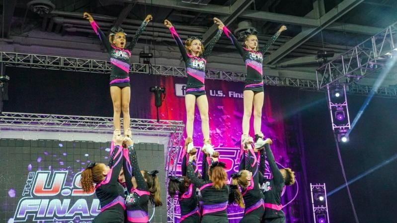 Submitted photo Members of the EPIC All-Stars cheerleading group compete in the US Finals in Virginia Beach.