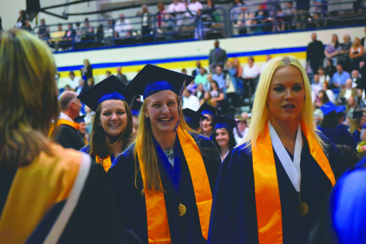Submitted photo Members of the Washington High School clasas of 2017 process during Saturday's ceremony at Shepherd University.