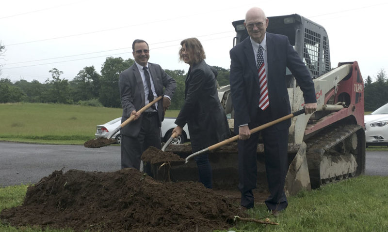 Grace Baptist Church held a ceremonial ground breaking service on May 28 at their property at 4272 Charles Town Road in Kearneysville. Over 80 people were present for the service including the architect for the project, Sara Lambert, and a representative from Jehovah Jireh Ministries, Jim Bosse.  The congregation, led by Pastor Craig Bush, is looking forward to seeing a new church built for the glory of God. (Submitted photo)