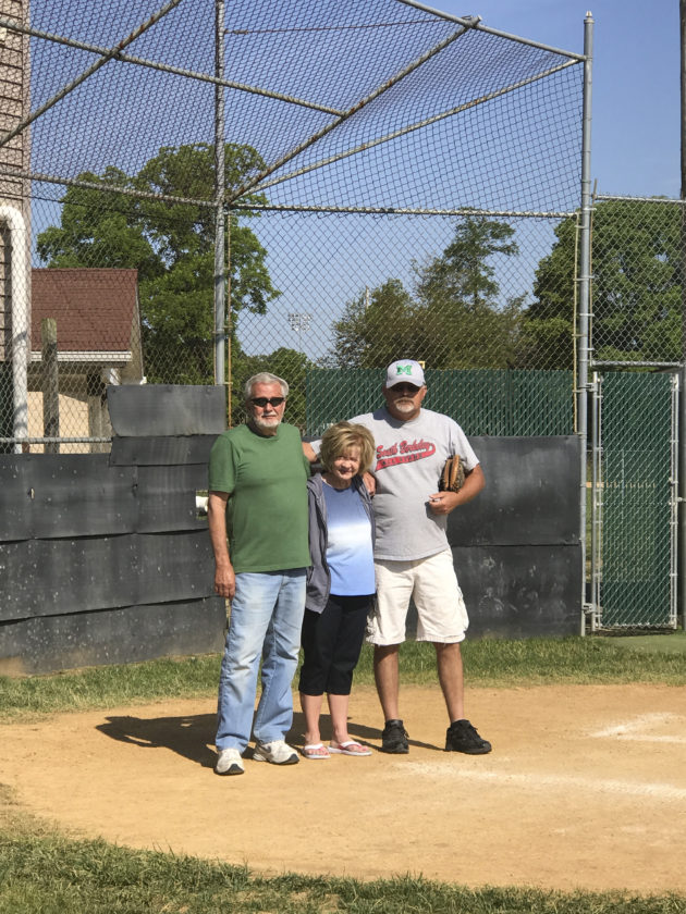 Pictured above are South Berkeley Little League president Jim Heironimus, Betty Heironimus and Doug Allen. Jim has played an important role in keeping the SBLL an active Little League organization and improving the facilities.