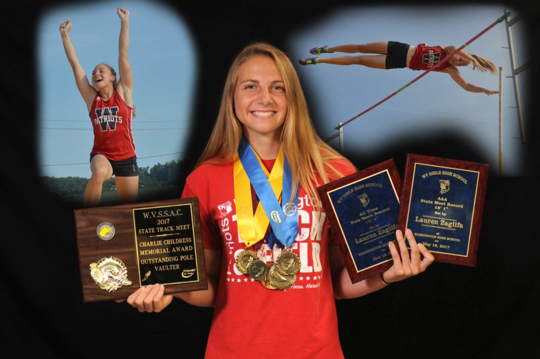 State champion and record-holder Lauren Zaglifa of Washington has been named as The Journal's Female Field Athlete of the Year.  (Journal photo illustration by Ron Agnir)