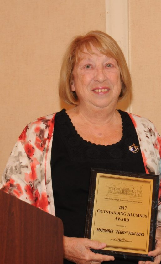 "Margaret ""Peggy"" Fish Boys receives the Outstanding Alumnus/Alumna Award. (Submitted photo)"