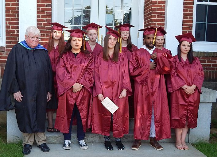 Graduates shown are, row 1 from left, Shannon Jones, Amber Palmer, Jamir Lee-Bright, Lauren Edens; Row 2: Taylor Edens, Miranda James, AnamCara Dixon, and Sandra Craig (Submitted photo)