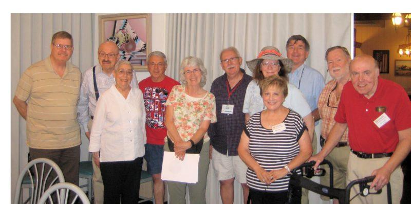 Members in photo, from left, are Dan Yother, Arthur Rosenbaum, Rona Rosenbaum, Ken Lawson, Bonnie Lawson, Dean Cook, Janet Silvious, Mary Kraft, Steve Silvious, Art Guyer, John Kraft (Submitted photo)