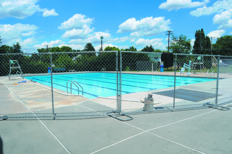 Journal photo by Ron Agnir Repairs to the main pool at War Memorial Park have been completed. Damaged pipe joints had caused a loss of water to the pool. It is scheduled to open on Friday for the rest of the summer, with more in-depth repairs slated for later this year.