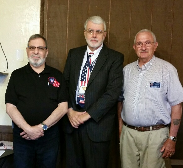 Pictured, from left, are Steve Sosson, president of the chapter; Bob O'Connor; and Delmar Barrett, vice president and program chairman. (Submitted photo)