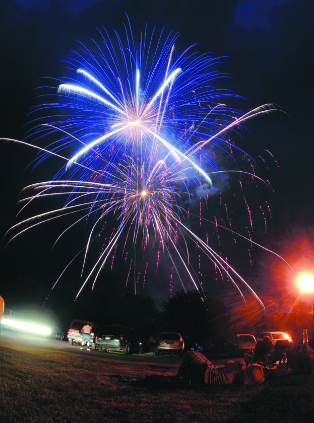 Journal photo by Ron Agnir The nation's 241st birthday was celebrated with fireworks in Martinsburg on Tuesday evening.