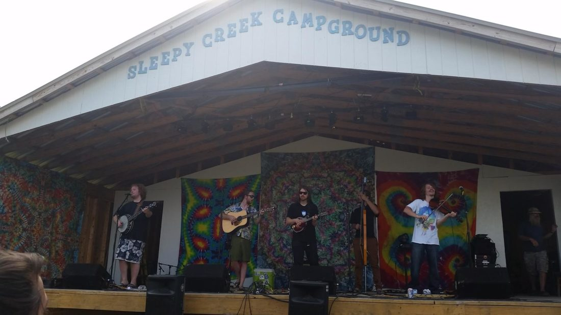 The Dirty Grass Players performing at the 2016 Brokedown Floatdown music festival. (Submitted photo)