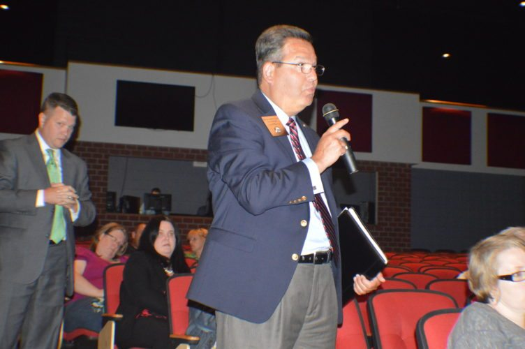 House Education Committee Chair and Delegate Paul Espinosa, R-66th District, speaks to crowd at ESSA Forum. (Journal photo by Adranisha Stephens)