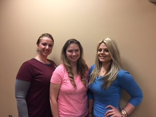 Shown, from left, are Nikki Kendig, Brittany Caton, and Whitney Fraley. (Submitted photo)