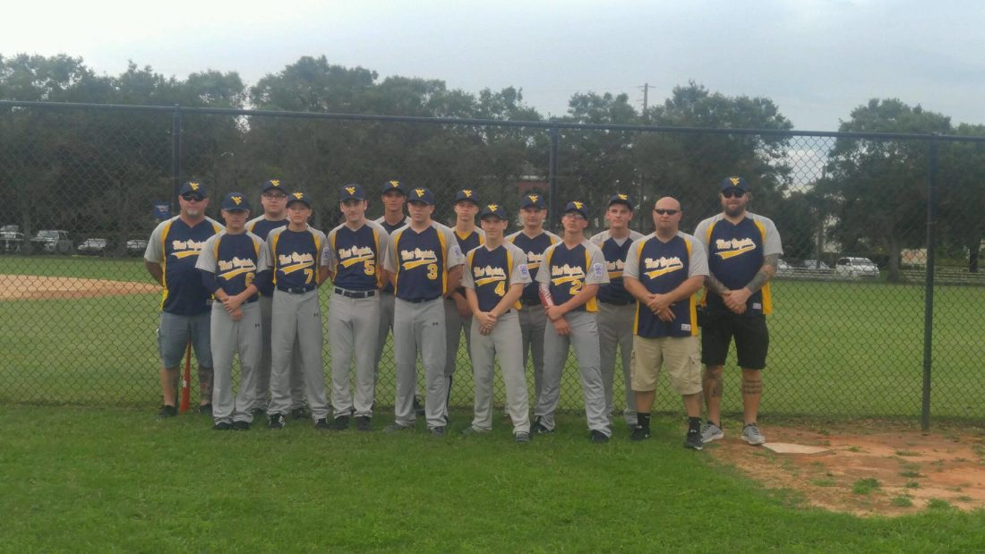 Pictured are the members and coaches of Martinsburg Little League's Senior League team. The team made the trip to Safety Harbor, Florida, for the Southeast Regional. Martinsburg's game Sunday against Martinez-Evans, Georgia, was pushed back due to rain. At press time, the game was scheduled to begin at 11:45 p.m.