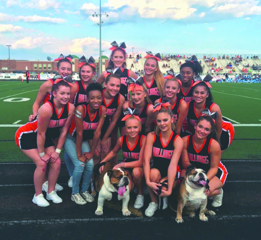 Submitted photo Members of the Martinsburg High School cheerleaders pose. The team is holding a fundraiser for the fourth year.