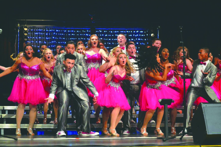 Submitted photo Members of the Good Times show choir from Martinsburgh High School perform at a competition.