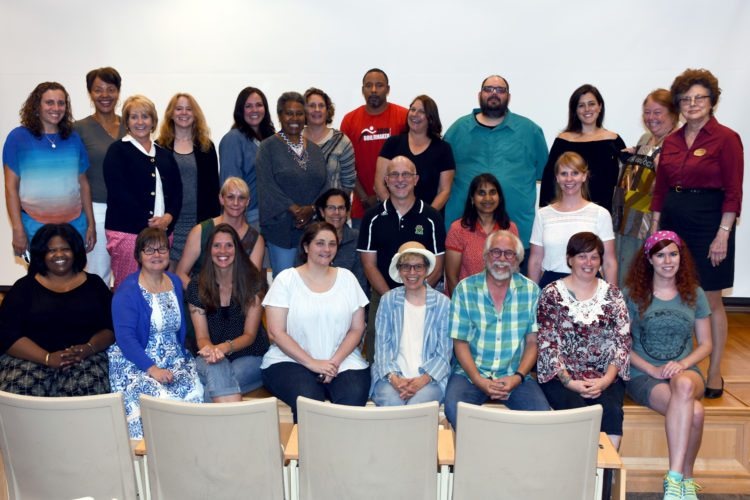 Each teacher attending Shepherd University's National Endowment for the Arts Appalachian summer institute gave a presentation on a project they worked on during the three-week institute. (Photo courtesy of Shepherd University)