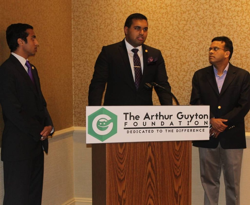 Pictured is the Second Annual Dr. Francisco Sabado Community Benefit Reception in 2016. On the left is Varun K. Menon, Chairman; center is Syed R. Akhtar, CEO; on the right is Dr. Satish K. Menon, board member and local physician.
