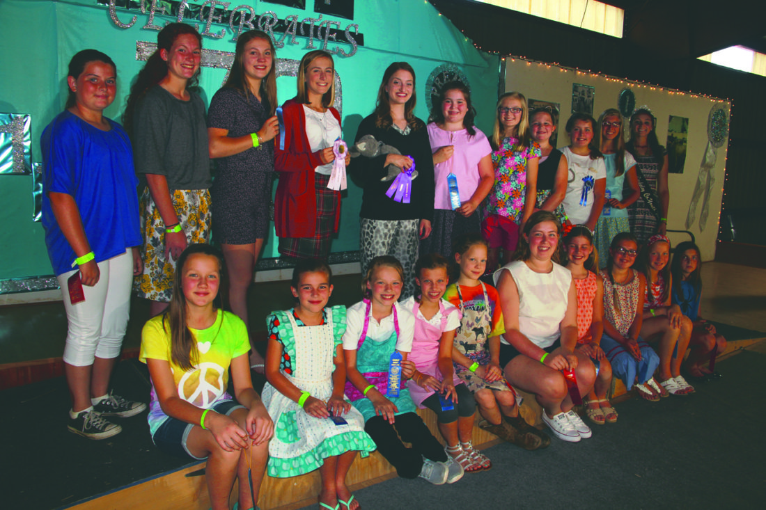 Submitted photo  Pictured above are participants in the 4-H Style Show at the Berkeley County Youth Fair on Saturday. The fair continue all week with a variety of events.