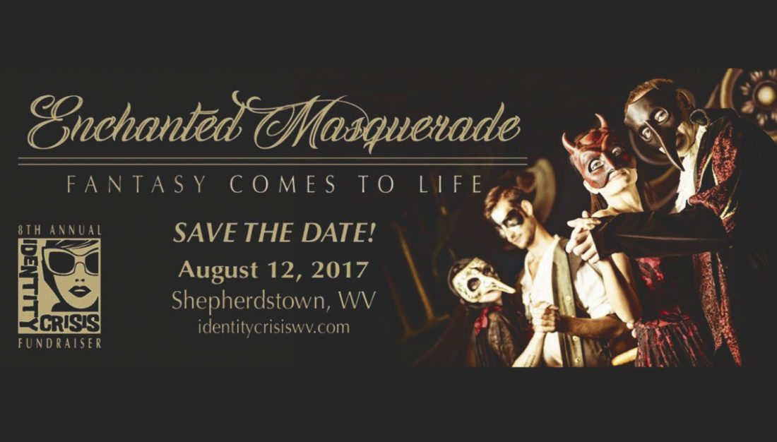 """Save the Date"" announcement for this  year's Enchanted Masquerade fundraiser."