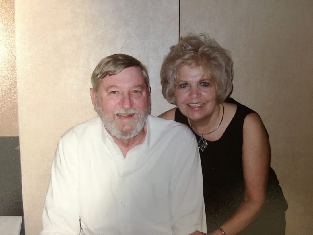 Hospice of the Panhandle patient Ed Shepherd celebrates their 25th anniversary with his wife, Milly