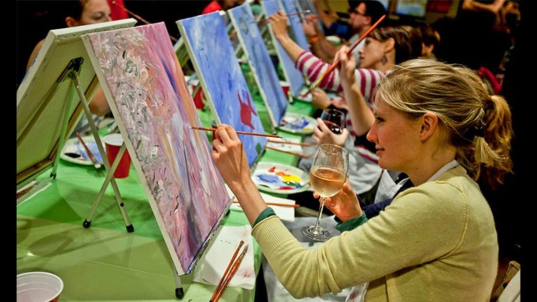 "Image from previous ""Paint Nite"" event. (Submitted photos)"