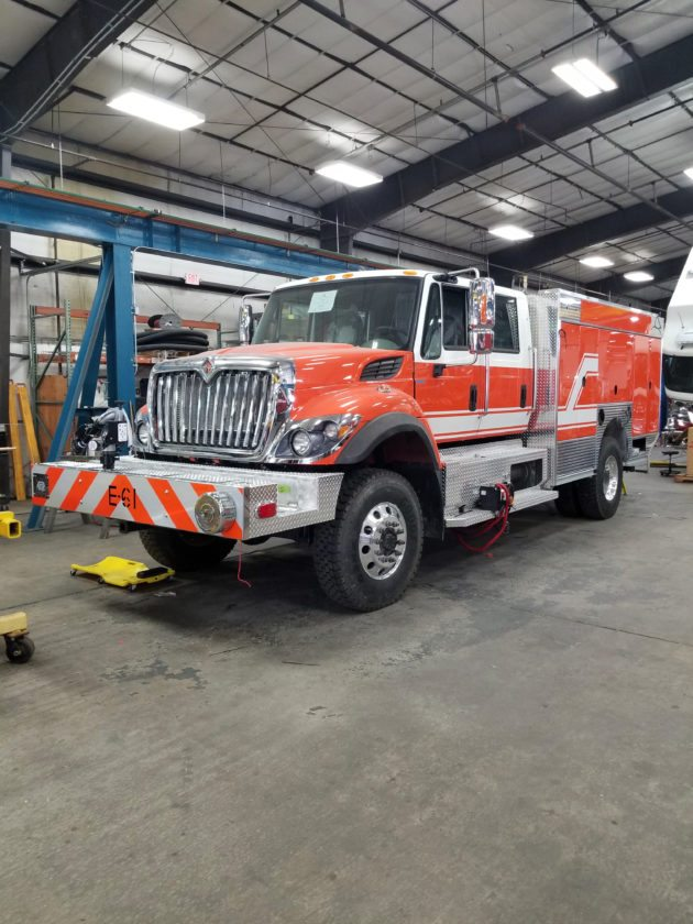 The new truck for Baker Heights Vol. Fire Dept. is almost complete at the plant in Minnesota. In is slated to go into service in the second week of October. (Submitted photo)