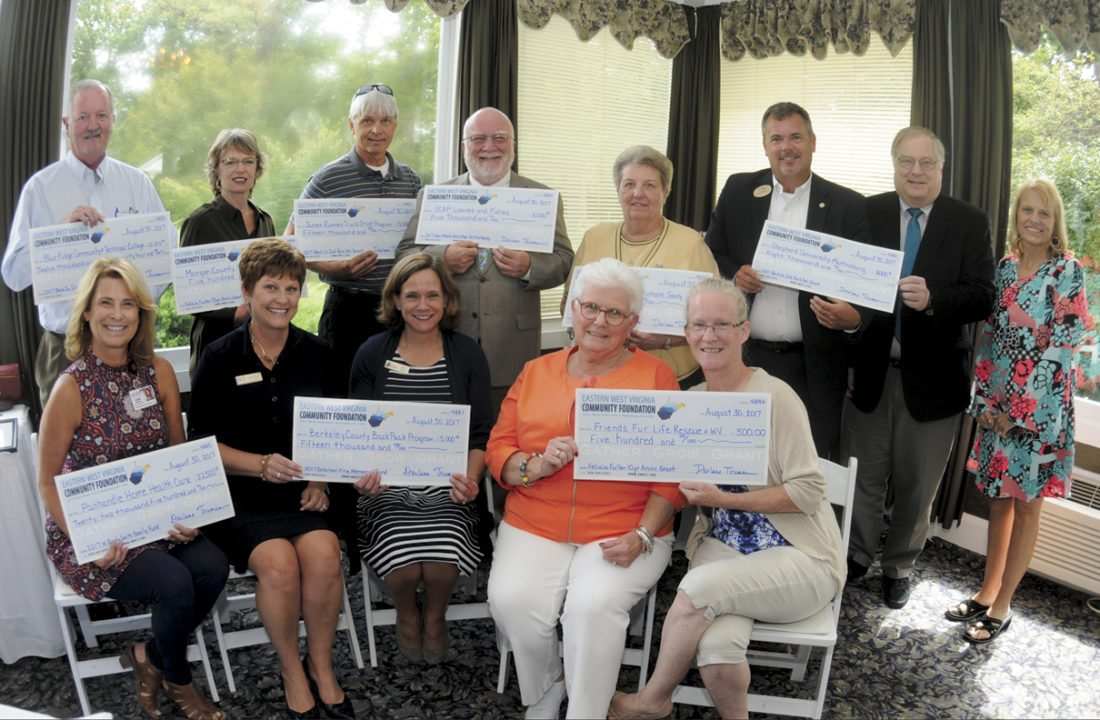 31 EWVCF2 ra 08-30-17 A group shot of all of the grant recipients at the Eastern West Virginia Community Foundation Program in Martinsburg. See more photos on CU.journal-news.net. (Journal Photo by Ron Agnir)